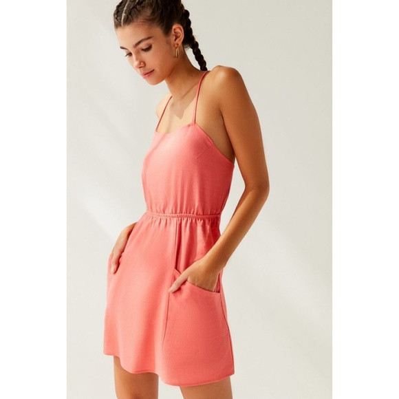 bcfe6823 Urban Outfitters Dresses | Uo Urban Renewal Remnants Strappy Linen ...